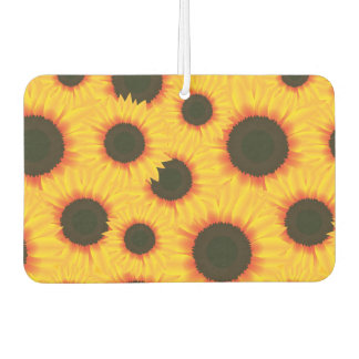 Spring colorful pattern sunflower air freshener