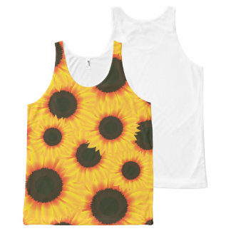 Spring colorful pattern sunflower All-Over-Print tank top