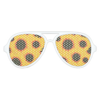 Spring colorful pattern sunflower aviator sunglasses