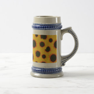 Spring colorful pattern sunflower beer stein