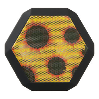 Spring colorful pattern sunflower black bluetooth speaker