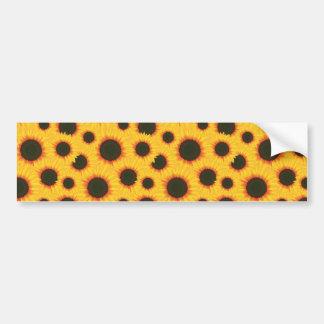 Spring colorful pattern sunflower bumper sticker