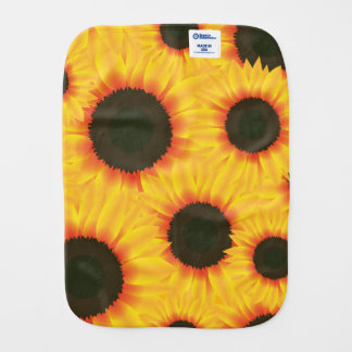 Spring colorful pattern sunflower burp cloth