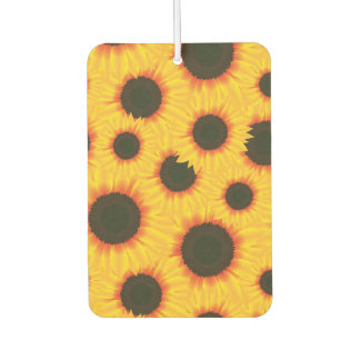 Spring colorful pattern sunflower car air freshener