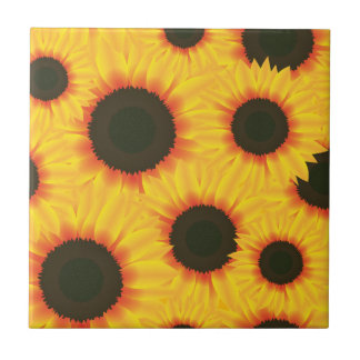 Spring colorful pattern sunflower ceramic tiles