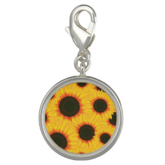 Spring colorful pattern sunflower charm