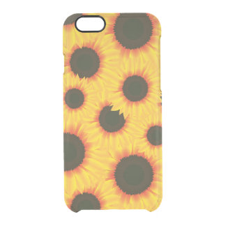 Spring colorful pattern sunflower clear iPhone 6/6S case