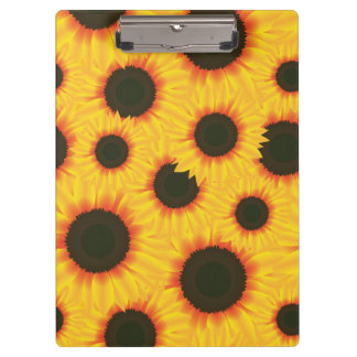 Spring colorful pattern sunflower clipboard