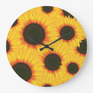 Spring colorful pattern sunflower clocks