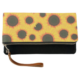 Spring colorful pattern sunflower clutch