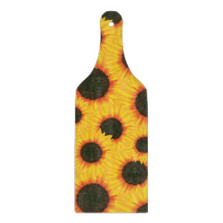 Spring colorful pattern sunflower cutting board