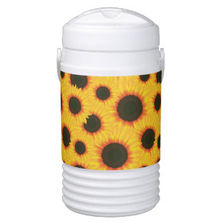 Spring colorful pattern sunflower drinks cooler