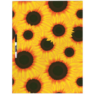 Spring colorful pattern sunflower dry erase board