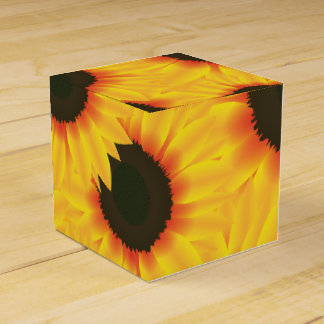 Spring colorful pattern sunflower favor box