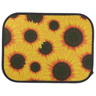 Spring colorful pattern sunflower floor mat