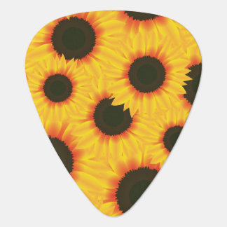 Spring colorful pattern sunflower guitar pick