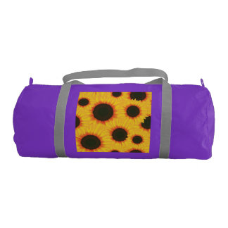 Spring colorful pattern sunflower gym bag