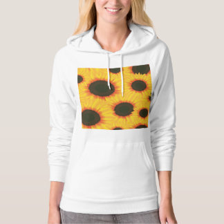 Spring colorful pattern sunflower hoodie