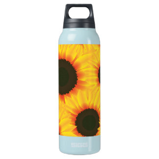 Spring colorful pattern sunflower insulated water bottle