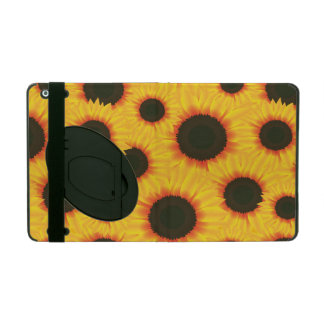 Spring colorful pattern sunflower iPad folio case