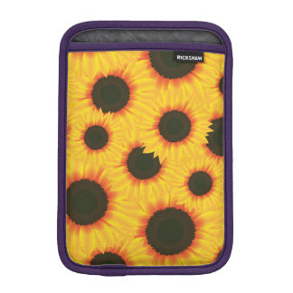 Spring colorful pattern sunflower iPad mini sleeve