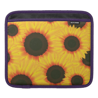 Spring colorful pattern sunflower iPad sleeves