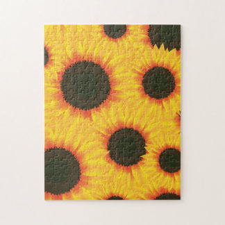 Spring colorful pattern sunflower jigsaw puzzle