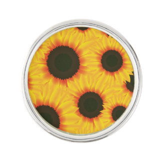 Spring colorful pattern sunflower lapel pin