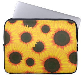Spring colorful pattern sunflower laptop sleeve