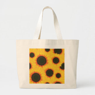 Spring colorful pattern sunflower large tote bag