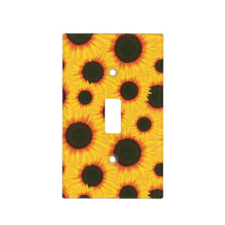 Spring colorful pattern sunflower light switch cover