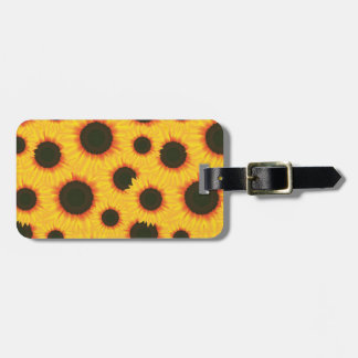 Spring colorful pattern sunflower luggage tag