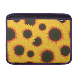 Spring colorful pattern sunflower MacBook sleeve