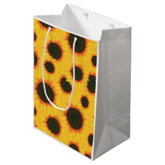 Spring colorful pattern sunflower medium gift bag