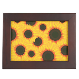 Spring colorful pattern sunflower memory boxes
