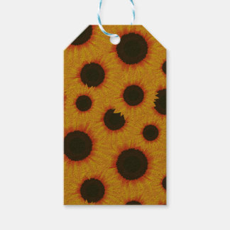 Spring colorful pattern sunflower pack of gift tags