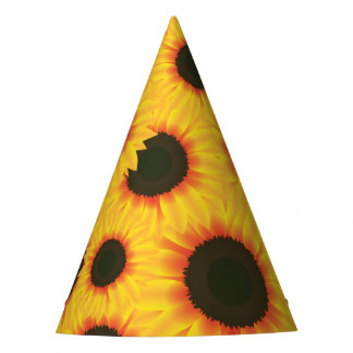 Spring colorful pattern sunflower party hat