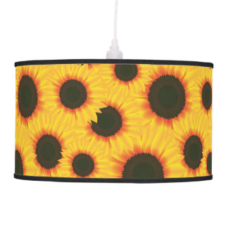 Spring colorful pattern sunflower pendant lamp