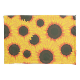 Spring colorful pattern sunflower pillowcase