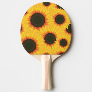 Spring colorful pattern sunflower Ping-Pong paddle