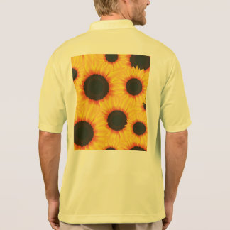 Spring colorful pattern sunflower polo shirt