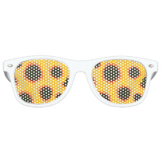 Spring colorful pattern sunflower retro sunglasses
