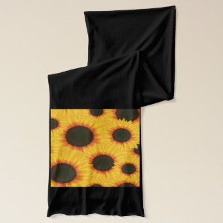 Spring colorful pattern sunflower scarf