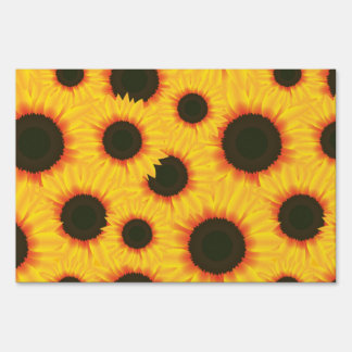 Spring colorful pattern sunflower sign