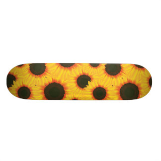 Spring colorful pattern sunflower skate board