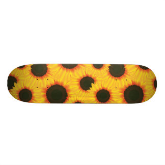 Spring colorful pattern sunflower skate board deck