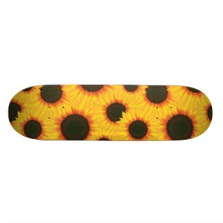 Spring colorful pattern sunflower skateboard