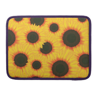 Spring colorful pattern sunflower sleeve for MacBooks
