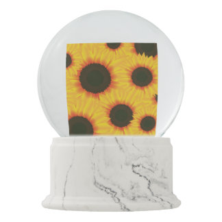Spring colorful pattern sunflower snow globe
