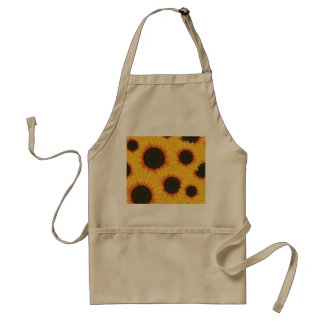 Spring colorful pattern sunflower standard apron